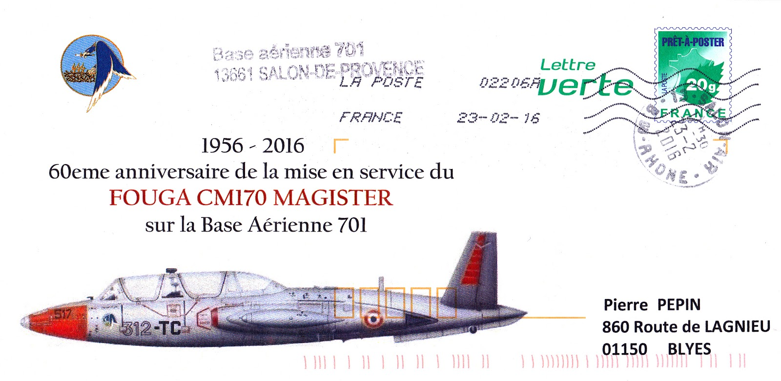 Philatelie et aviation militaire salon 2016 - Base 701 salon de provence ...