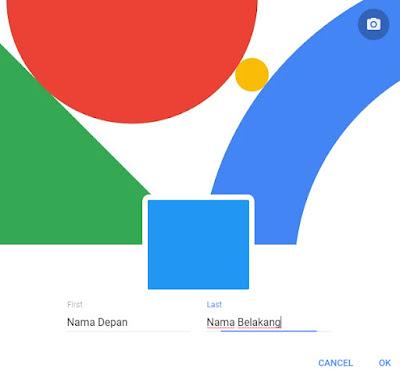 Google profil ubah nama