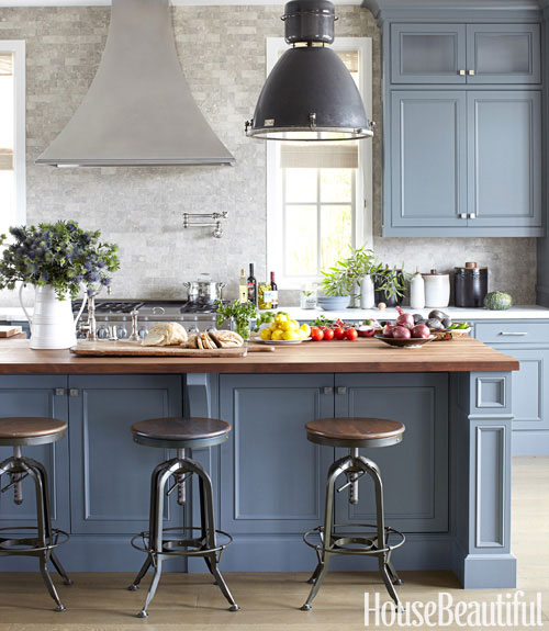 Green Painted Kitchen Cabinets: Michael Homchick Stoneworks: COLORFUL Painted Kitchen Cabinets