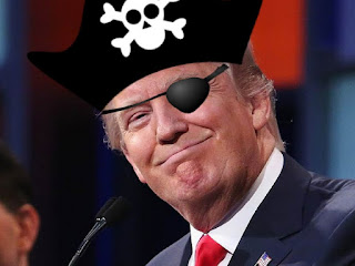 Donald Trump Pirates of the Caribbean to plunder gold riches