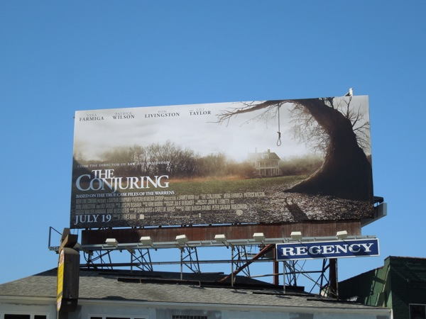 Conjuring movie billboard