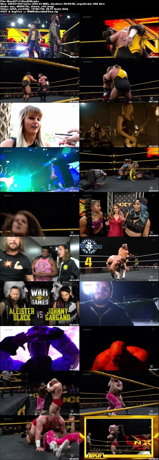 WWE NXT 07 November 2018 720p WEBRip 250MB x264 hollywood tv show wwe show WWE NXT 26 April 2017 200mb compressed small size free download or watch online at world4ufree.vip