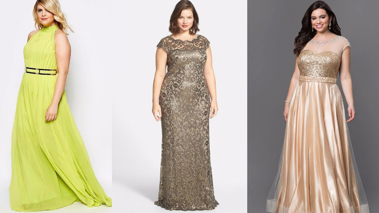 Modas de vestidos largos elegantes para gorditas