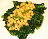 Lemon-Garlic Chickpeas with Sautéed Kale