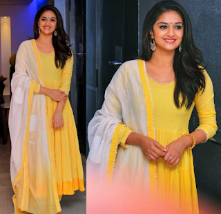 Keerthy Suresh in Yellow Dress for Mahanati Press Meet 1