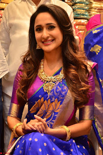 Pragya Jaiswal in colorful Saree looks stunning at inauguration of South India Shopping Mall at Madinaguda ~ Exclusive Celebrities Galleries 004