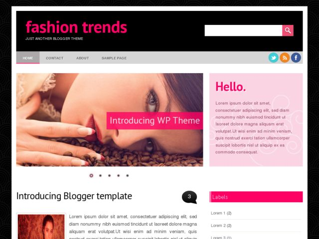 Fashion Trends Blogger Template