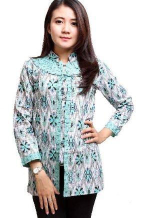 contoh model baju batik kantor wanita