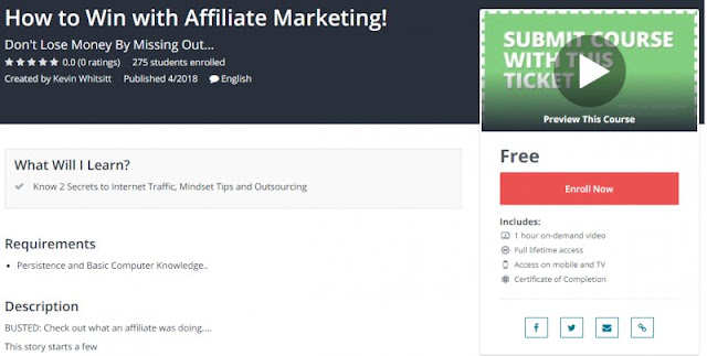 [100% Free] How to Win with Affiliate Marketing!