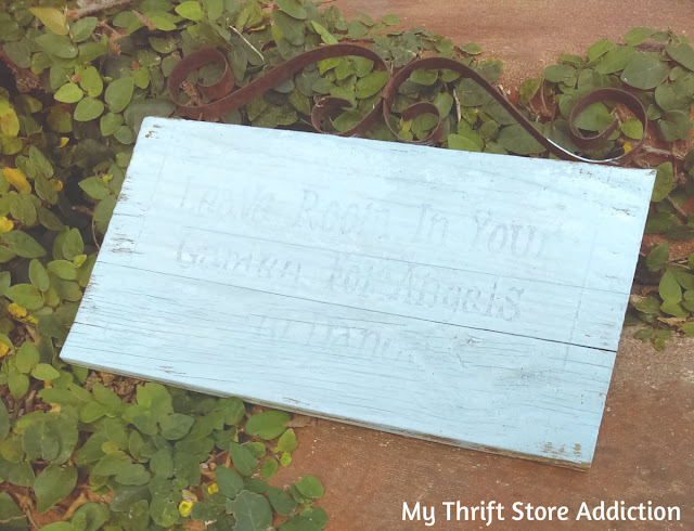 how to refresh faded garden signs