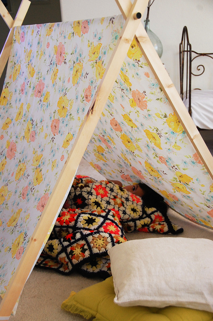Fort A Day A Folding Blanket Fort Kids Tent So Simple