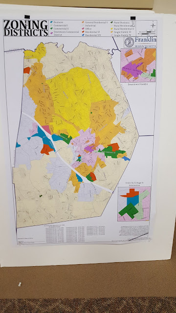 Franklin map  showing the different zoning districts