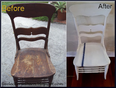 Eclectic Red Barn: Before and After on the broken chair