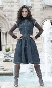 modelo de vestido jeans para inverno - fotos e dicas
