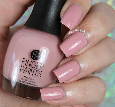 Fingerpaints Nail Color Blushing With Excitement