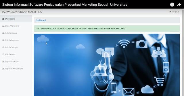Sistem Informasi Software Riset Penjadwalan Presentasi Marketing Sebuah Universitas