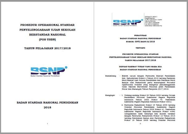 POS USBN SD SMP SMA SMK 2018