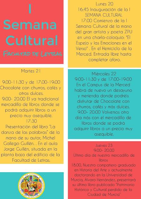 I Semana Cultural de la Facultad de Letras.