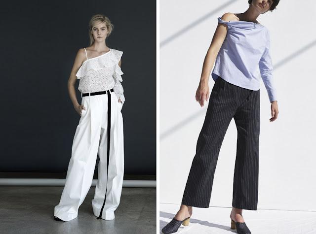 Расклешенные брюки со свободным топом
