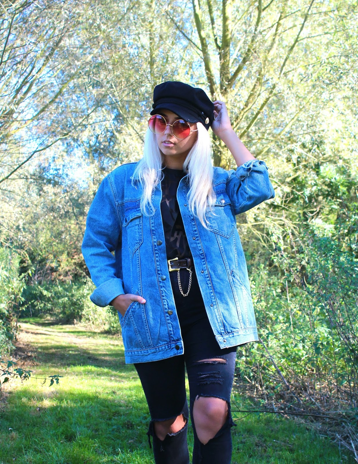 Long Line Denim Jacket from Primark