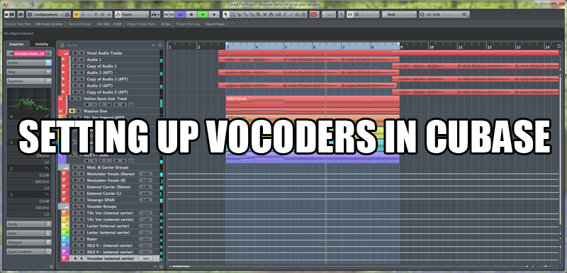 Ultimate Outsider: Setting Up Vocoders in Cubase Part 1