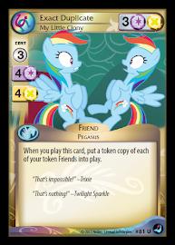 My Little Pony Exact Duplicate, My Little Clony High Magic CCG Card