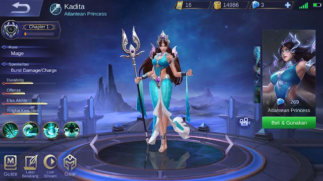 Tutorial Mendapatkan Skin Kadita Atlantean Princess, Gratis ? 1