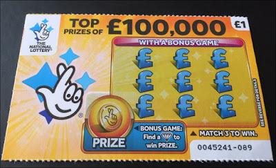 £1 Yellow Scratch Card