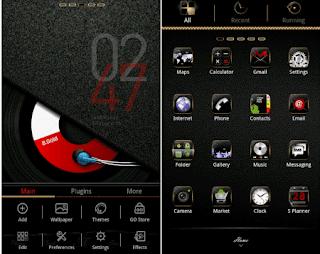 aplikasi tema android B.Gold GO launcherEX theme 1.3