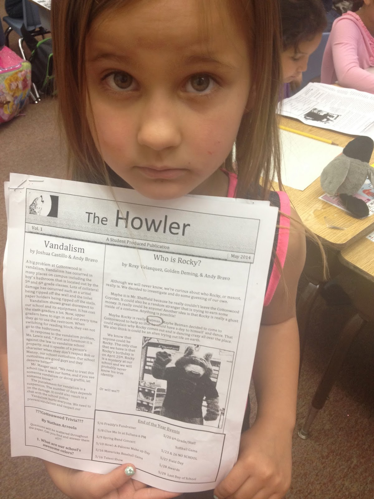 """First Graders Offended By School News Article!"""