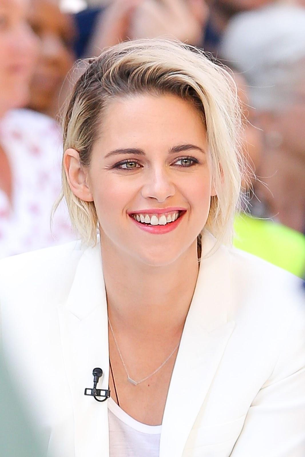 Kristen Stewart On The Set Of Good Morning America