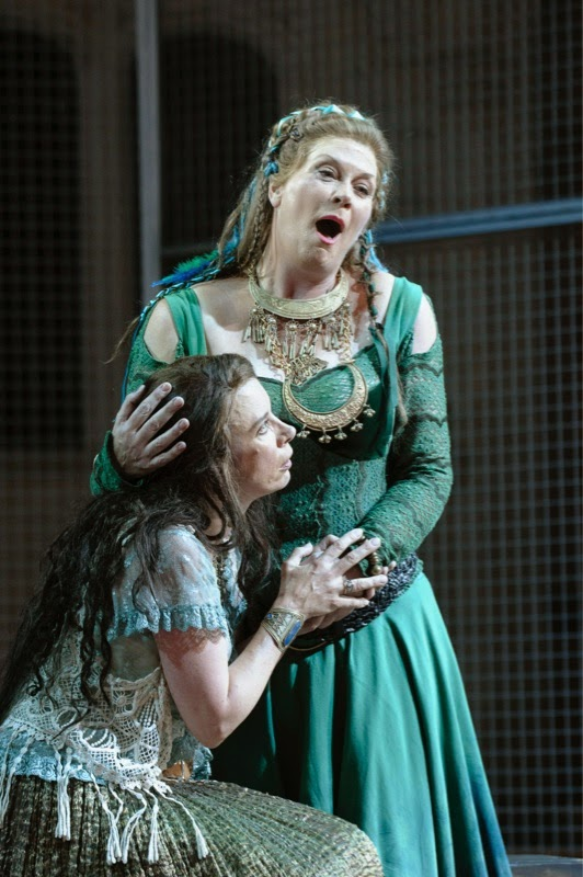Yvonne Howard and Heather Shipp, Bellini's Norma at Opera Holland Park; photo credit Fritz Curzon