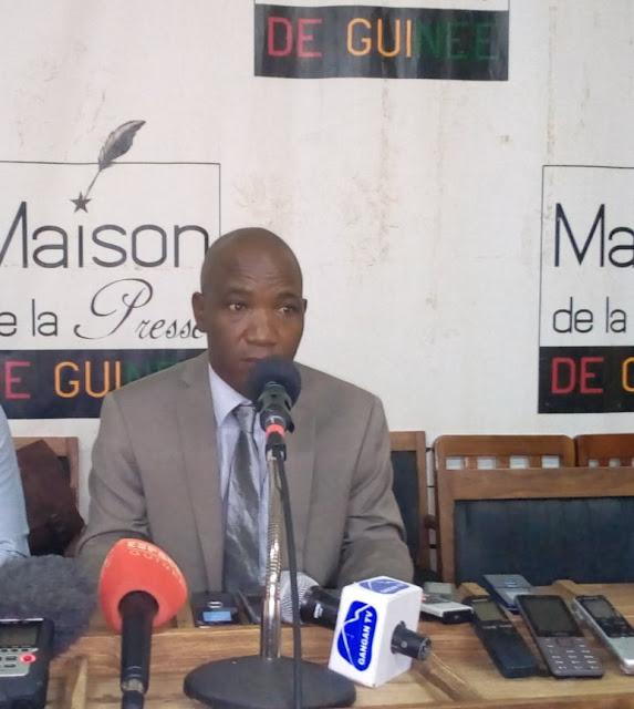 monsieur Frédéric Foromou Loua président de l'ONG.