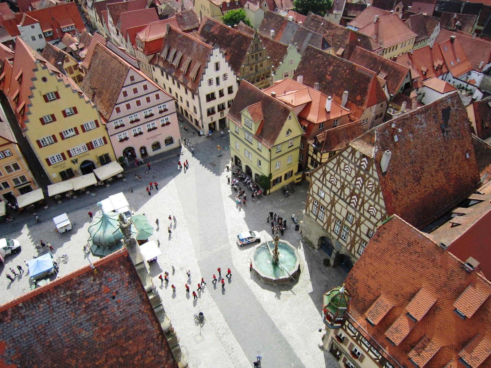 Vista de Rothenburg ob der Trauber desde la torre del ayuntamiento