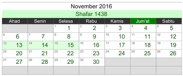 kalender umroh november 2016