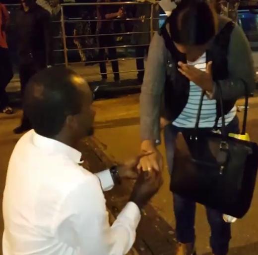 tunde owokoniran proposes girlfriend
