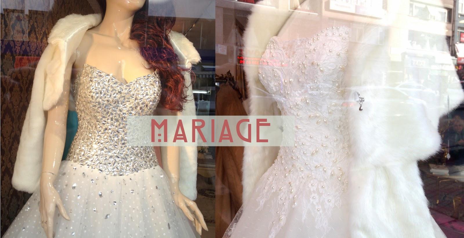 ... entre vous. Alors close-up sur les robes de mariées à Istanbul