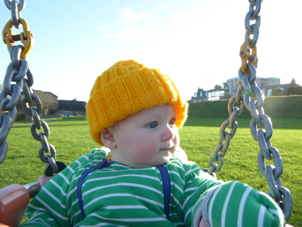 Matilda in swing on cold day