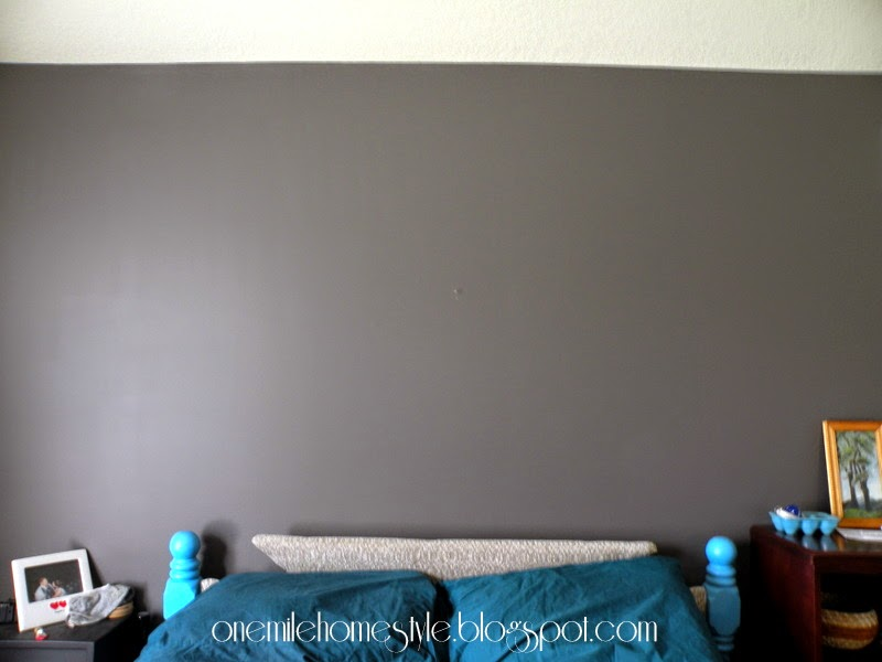 Blank master bedroom wall