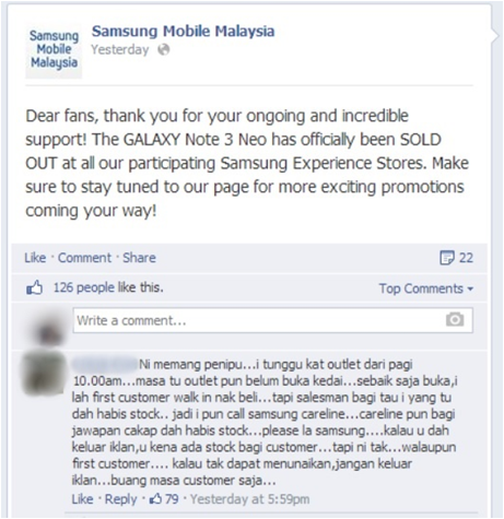 Samsung Galaxy Note 3 Neo campaign backfired