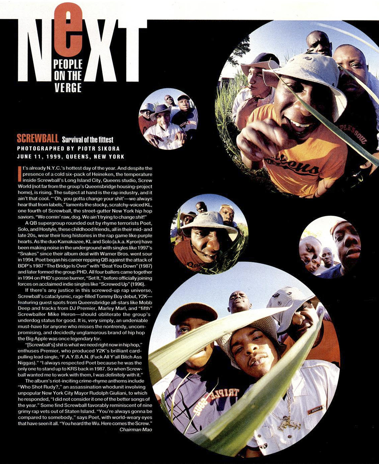 "Screwball 'Next"" in Vibe Magazine (1999)"