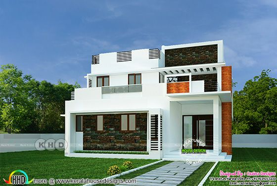 4 BHK, contemporary style home 195 square meter