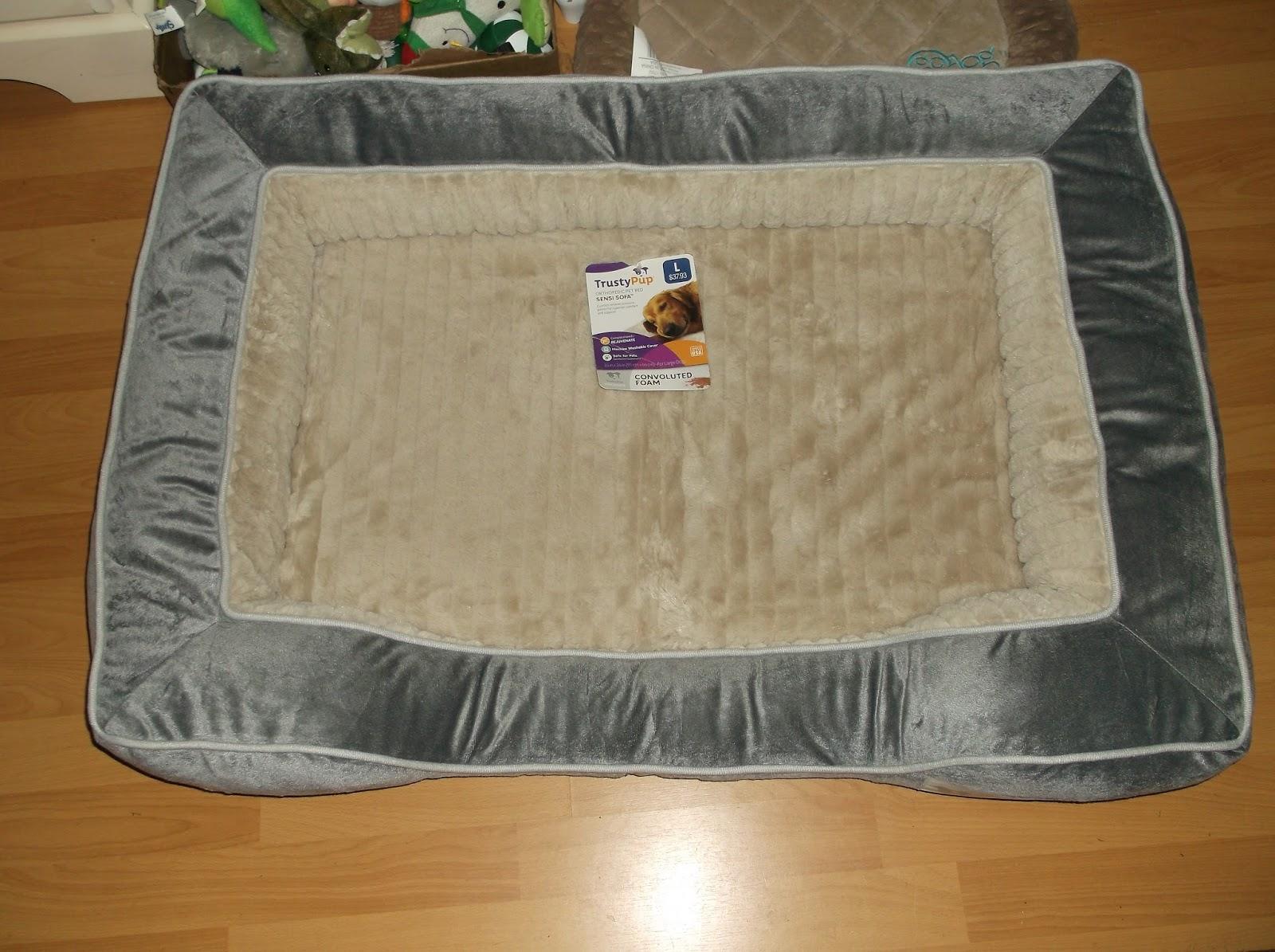 missys product reviews : trustypup orthopedic pet bed sensi sofa