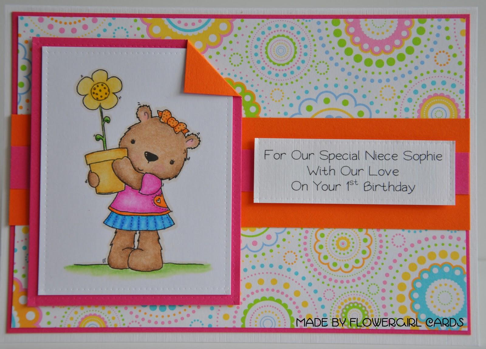 flowergirl cards 1st birthday card