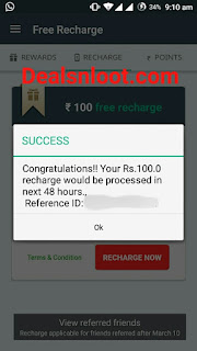 Via.com App Recharge Redeem Proof