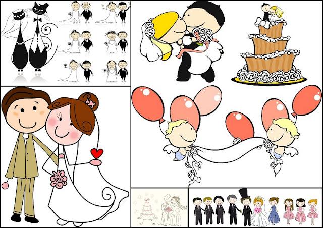 Imágenes De Caricaturas De Parejas De Novios Vestidos