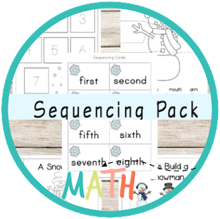 snowman sequencing pack - kindergarten math