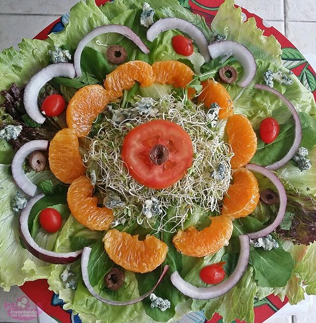 Dica de salada com tangerina