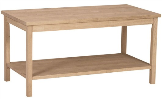 Simple Unfinished Wood Coffee Table