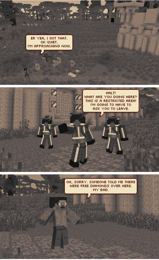 Minecraft web comic